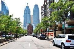 多伦多街和大厦 免版税图库摄影