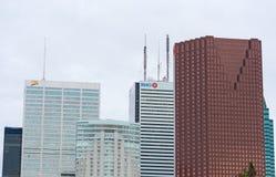 多伦多街市摩天大楼 库存照片