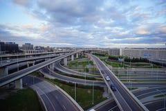 多伦多街市高速公路 免版税库存图片