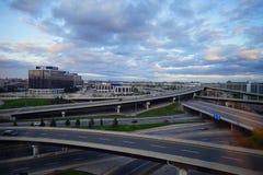 多伦多街市高速公路 库存图片