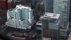 多伦多街道鸟瞰图  股票视频