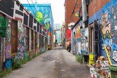 多伦多街道画胡同 免版税库存图片