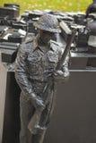 多伦多香港大会堂纪念意大利竞选的加拿大士兵 库存图片