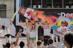 多伦多骄傲游行2014年 库存照片