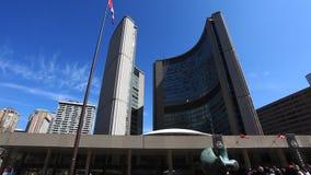 多伦多,加拿大的现代市政厅 股票录像
