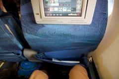 多伦多,加拿大- 2017年1月28日, :加航在巴西航空工业公司ERJ-190里面的业务分类位子从AC 空气Canadas巴西航空工业公司 免版税库存照片