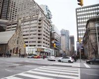 多伦多,加拿大2015年12月26日:在anan交叉点的一个看法 免版税库存照片