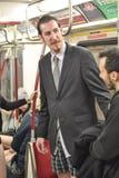 多伦多,加拿大 2014年1月12日-数百人民没有在多伦多结果加入裤子地铁乘驾 免版税库存图片