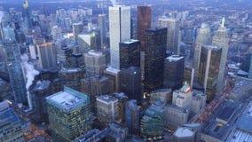 多伦多,加拿大Timelapse天线天夜4K 股票录像