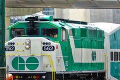 多伦多,安大略,加拿大6月26日2018年:多伦多去火车arrivin 免版税图库摄影