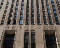 多伦多,安大略/加拿大- 2018年7月20日:新斯科舍总店Street国王银行  免版税图库摄影