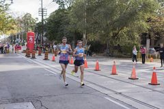 多伦多, ON/CANADA - 2017年10月22日:乌克兰马拉松运动员Igo 图库摄影
