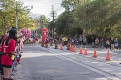 多伦多, ON/CANADA - 2017年10月22日:加拿大马拉松运动员约翰 库存照片