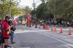 多伦多, ON/CANADA - 2017年10月22日:加拿大马拉松运动员Aaro 免版税库存图片
