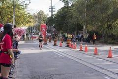 多伦多, ON/CANADA - 2017年10月22日:加拿大马拉松运动员Eoin 免版税库存照片