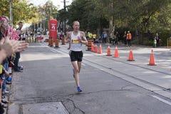 多伦多, ON/CANADA - 2017年10月22日:加拿大马拉松运动员Jaso 免版税库存图片