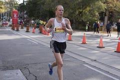 多伦多, ON/CANADA - 2017年10月22日:加拿大马拉松运动员Jaso 库存照片