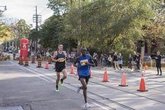 多伦多, ON/CANADA - 2017年10月22日:加拿大马拉松运动员Trev 库存照片
