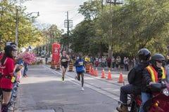 多伦多, ON/CANADA - 2017年10月22日:加拿大马拉松运动员Trev 免版税库存图片