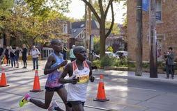 多伦多, ON/CANADA - 2017年10月22日:肯尼亚马拉松运动员Phile 库存照片