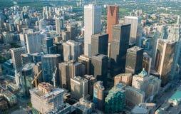 多伦多- 2008年7月12日:城市大厦在一个夏日 多伦多 库存照片