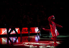 多伦多Rapters与洛杉矶湖人队 免版税库存图片