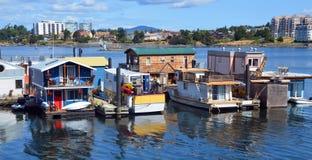 维多利亚内在港口,渔夫码头 免版税图库摄影