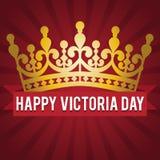 维多利亚天 金冠和祝贺的题字 也corel凹道例证向量 图库摄影