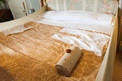 维多利亚女王时代的卧室 库存图片