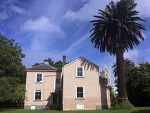 维多利亚女王时代的商人房子在奥克兰-新西兰 库存照片