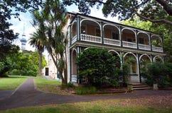 维多利亚女王时代的商人房子在奥克兰NZL 免版税图库摄影