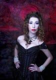 维多利亚女王时代的夫人。 免版税库存图片