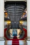 维多利亚女王时代的样式楼梯在宫殿 库存照片