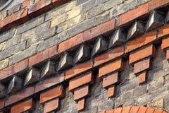 维多利亚女王时代的砖 免版税库存图片