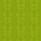 维多利亚女王时代的绿色无缝的样式 库存图片