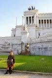 维多利亚女王时代,维托里奥EMANUELE纪念碑,威尼斯广场,罗马` S历史的中心,意大利 免版税库存图片