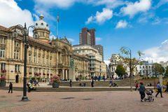 维多利亚广场在伯明翰 免版税库存照片
