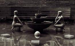 维多利亚广场,伯明翰,英国 免版税库存图片