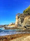维多利亚海滩城堡 免版税图库摄影