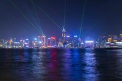 维多利亚港口在香港 免版税库存图片