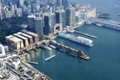 维多利亚港口在香港 库存照片