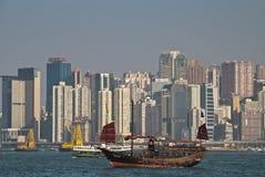 维多利亚港湾在香港 免版税库存照片