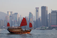 维多利亚港,香港 图库摄影
