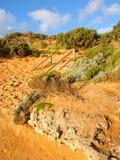 维多利亚澳大利亚坚固性海岸线 免版税库存照片