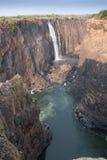 维多利亚瀑布峡谷 免版税库存图片