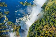 维多利亚瀑布瀑布的俯视图 免版税库存照片
