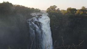 维多利亚瀑布看法从津巴布韦边的 股票录像