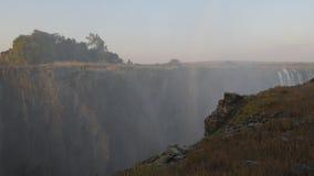 维多利亚瀑布看法从津巴布韦边的 股票视频