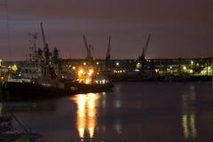 维多利亚码头在黎明 免版税图库摄影