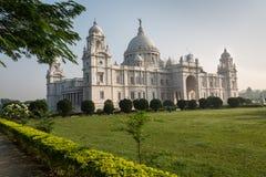 维多利亚纪念历史的建筑大厦纪念碑和博物馆在加尔各答,西孟加拉邦,印度 免版税图库摄影